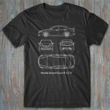 Automotive T-shirt - HONDA Accord Euro R - JDM technical blueprint - Tee shirt