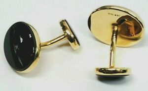 GEORGOUS! Classic 14k Gold and Onyx Cufflinks, MINT!! 8.5 grams.