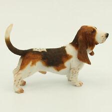 Resin MINI Basset Hound dog Hand Painted simulation model Figurine Statue