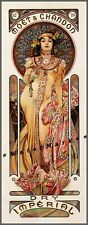 Champagne Moet Chandon Dry 1899 Vintage Poster Print Retro Style Mucha Wall Art