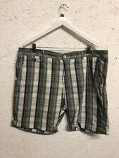Pierre Cardin Cream Check Knee Shorts Cotton Summer Size XXL XL Designer Plaid