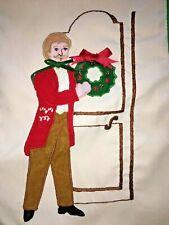 "Vtg Silvestri Victorian Gentleman Christmas Stocking ""Henry"" Made in Philippines"