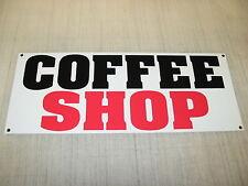 COFFEE SHOP Banner Sign * 4 Fresh Hot Whole Grind Gourmet TEA Cappuccino Machine