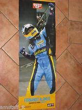 # POSTER FERNANDO ALONSO RENAULT F1 R26 CAMPIONE DEL MONDO 2005/06 CM.77X28 AC16