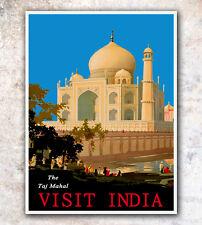 "Vintage Travel Poster India Taj Mahal 12x16"" Hot Rare New A226"