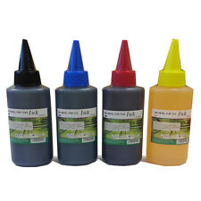4 X 100ml Universal Printer Refill Ink Bottles for CISS or Refillable Cartridges