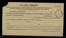 GB 1911 pensione di vecchiaia malattia l'autorità agente... walworth Road CD