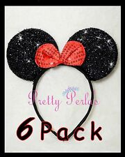 6pc Minnie-Mickey Mouse Ears Headband  Sparkle Shimmer