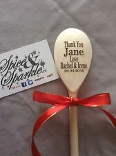 Personalised Engraved Wooden Spoon, Kitchen Baking Cooking Gift Nanna Mummy Gran