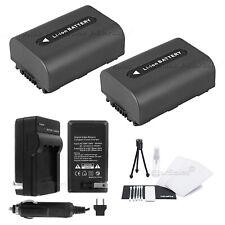 2x NP-FH50 Battery + Charger for Sony DCR-HC5 HC7 HC8 HC41 HC96 HC35