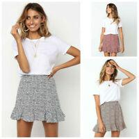 Women/Ladies Skirt Floral Dot Print Flared Short Skirt Summer Beach Casual NEW