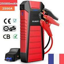 SUAOKI U27 2500A/25000mAh Démarreur Booster Power Bank d'urgence chargeur USB EU