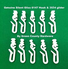10 x Silent Gliss 6146 Hook & 3534 Glider FOR use with shower curtains FREEPOST