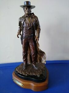 "Greg Polutanovich Bronze Sculpture ""Gunslinger"" Limited Edition 1/10 17"" High"