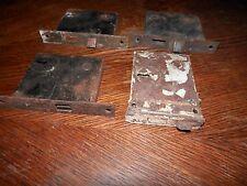 Vintage Lot of Old Antique Metal Rustic Mortise Door Locks