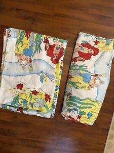 Twin Size Disney The Little Mermaid Flannel Sheet Set Flat Fitted