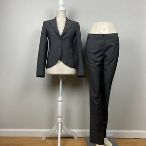 Theory Charcoal Gray Wool/Mohair/Silk Pant Suit 0 / 2