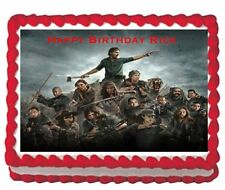 The Walking Dead Rick party edible cake topper 1/4 icing frosting sheet