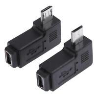2pcs 90 Degree Mini USB Female to Micro USB Male Adapter Connector Converter