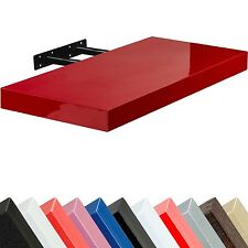 "STILISTA Wandboard ""Volato"" Wandregal CD DVD Regal 70cm Rot Hochglanz"