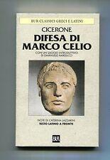 Marco Tullio Cicerone # DIFESA DI MARCO CELIO # Rizzoli 2000