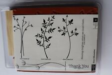 "Stampin Up Stem Silhouettes set of 6 ""Retired"" Blessings Brighten...Count Them"