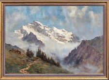 More details for large 19th century french swiss alps mountain landscape arnold priestman