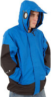 Boys Location Blue Goggle Rain Hooded Waterproof Jacket Coat Kids Junior Sizes