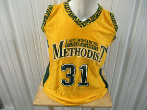 VINTAGE RUSSELL ATHELTICS Methodist University LADY MONARCHS LARGE BBALL JERSEY