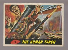 1962 MARS ATTACKS Topps/Bubbles Trading Card #9 The Human Torch 3.5