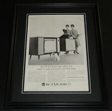 1959 RCA Victor TV 11x14 Framed ORIGINAL Vintage Advertisement Poster