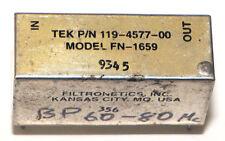 Filtronetics Crystal Filter Tek P/N: 119-4577-00 Model: Fn-1659 Bp 60-80 Mc