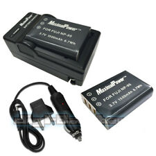 Non-OEM Charger & 2PC Battery for Fuji NP-95 FinePix F30 F31fd Real FUJIFILM