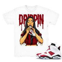 Shirt for Air Jordan 6 Retro ''Carmine'' Unisex Tshirt |Drippin-White Shirt