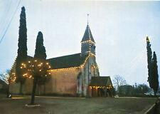 Carte THOIGNE Eglise avec guirlandes extérieures pour fêter la Noël