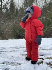 Toddler Infant Red Sz 18-24 Month Columbia Snuggly Bunny Bunting Down Snow Suit