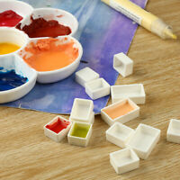 Leere volle / halbe Pfanne Farbe Plastik Aquarell Gitter Künstler Palette Kunstz