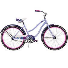 Huffy Cranbrook Women's Cruiser Bike bicycle 24 Lilac Purple single speed beach