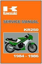 KAWASAKI Workshop Manual KR250 1984 KR250-A1 1985 KR250-A2 & 1986 KR250S Repair