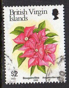 British Virgin Is. 2000 Flowers $2 fine used