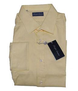 Ralph Lauren Purple Label Italy Mens French Cuff Solid Button Sport Dress Shirt