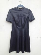 ZARA WOMAN FAUX STRETCH LEATHER SLATER SWING LUSH COMFY DRESS 6 8 10 S