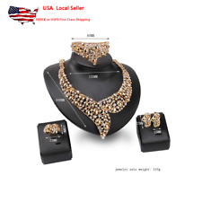Women Bollywood Jewelry Necklace Set Indian Trendy Jewelry Necklace and Earring