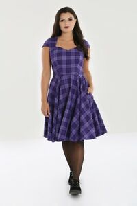 Hell Bunny Kennedy Rockabilly Swing Retro Vintage Day Tea Check Dress