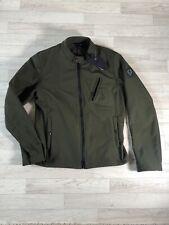 Belstaff Coat Belstaff Soft Shell Biker Jacket Khaki Green EU46 Small NEW Fitted