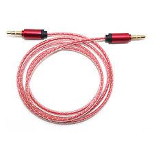 1M 3.5mm Jack Plug To Plug Male Cable Audio Lead For Headphone AUX MP3 iPod Car