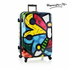 "Heys Romero Britto Luggage 30"" Butterfly Hardside Spinner Large Suitcase TSA"