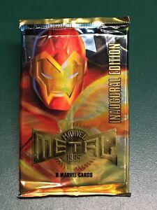 1995 Fleer Marvel Metal Inaugural Edition Sealed Unopened Card Pack Iron Man