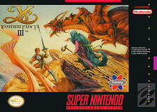 Wanders From Ys III Super Nintendo Framed Print (SNES Man Cave Picture Poster)