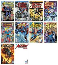ACTION COMICS #1000 VARIANT SET OF 9 OUT OF 10 (1st PRINT) SUPERMAN  2018 NM- NM